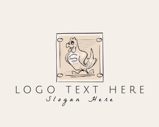 Scribble - Vintage Chicken Farm logo design