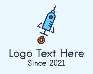 Booster - Medical Vaccine Rocket logo design