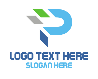 Letter P - Abstract Letter P logo design