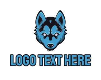 Coyote - Blue Wolf logo design