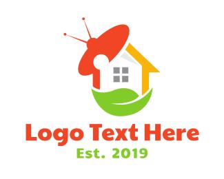 Tv Channel - UFO Leaf House logo design