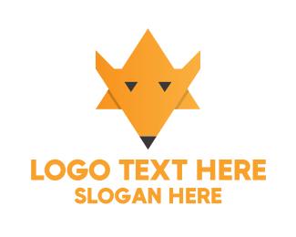Orange Wave - Fox Sheriff Star logo design