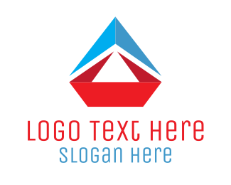 Sailboat - Origami Sailboat logo design