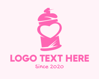Spray Paint - Pink Heart Spray Paint logo design