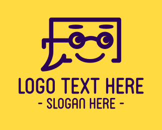 Mailing - Blue Stroke Smiling Chat Box logo design