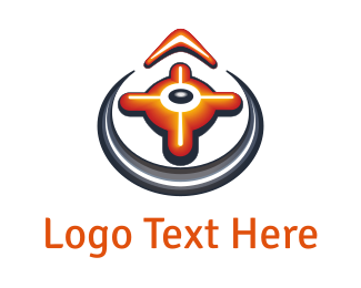 North - Orange Compass logo design