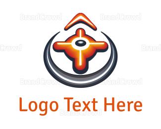 Orange And Gray - Orange Compass logo design