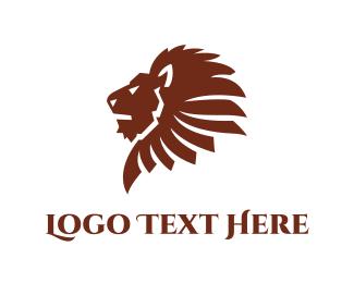 Company - Brown Lion logo design