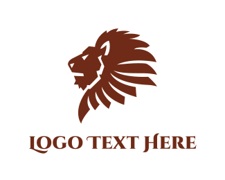 Lion - Brown Lion logo design