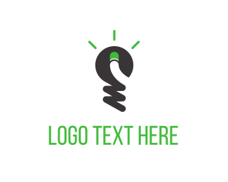Screw - Green Light Idea logo design
