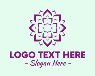 Flower Stand - Yoga Lotus Studio logo design