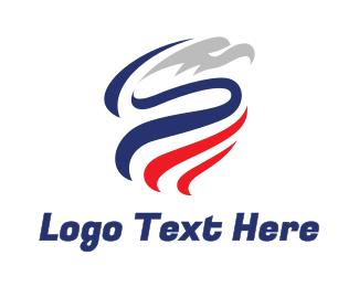 Republican - Blue Ribbon Eagle logo design