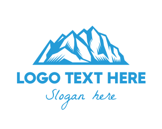 Mountain - Blue Ice Mountain logo design