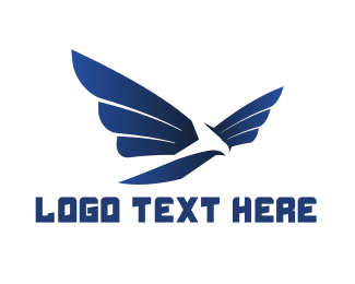 Hawk - Modern Blue Hawk logo design