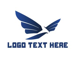 Hawk - Modern Blue Hawk logo design