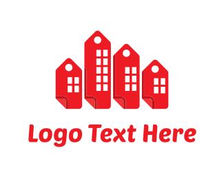 Real Estate Agent - Buildings Tags logo design