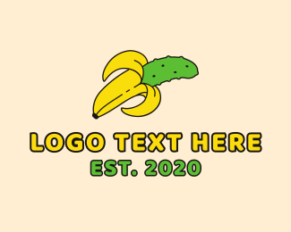 Yellow Banana - Banana Pickle logo design