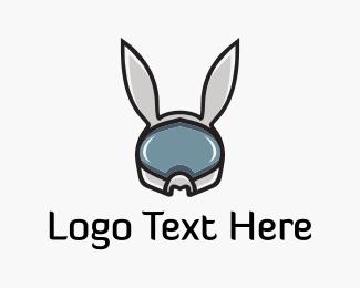 Astronaut - Space Rabbit logo design