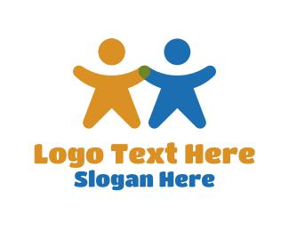 Leadership - People Holding Hands logo design