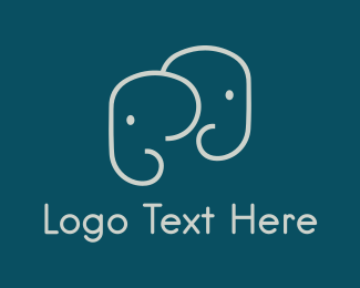 Mother - Cute Elephants logo design
