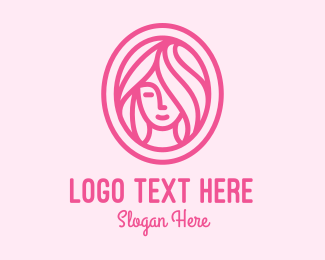 Facial - Pink Beauty Salon  logo design