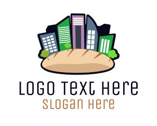 Baguette - Bread City logo design