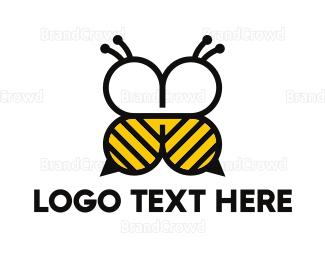 Beehive - Abstract Bee logo design
