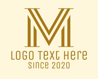 Mv - Elegant VM Monogram logo design
