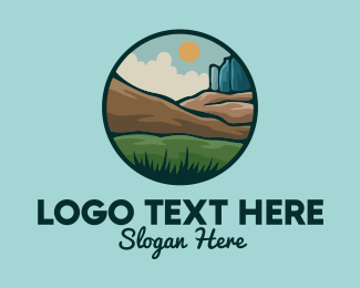 Rock Formation - Rustic Outdoor Landscape logo design