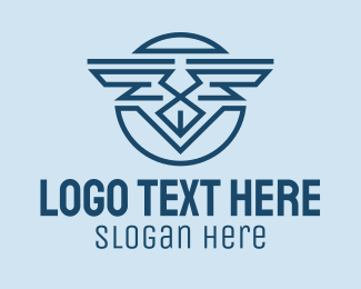 Company - Abstract Wings Emblem  logo design
