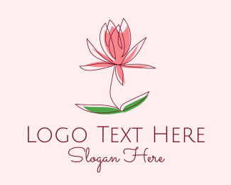 Camellia - Minimalist Flower Bloom  logo design
