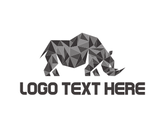 Powerful - Crystal Rhino logo design