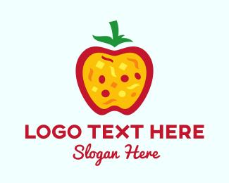 Lunch - Apple Pizza  logo design
