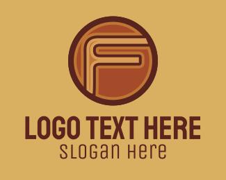 Vintage - Retro Vintage Letter F  logo design