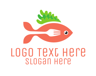 Orange Vegetable - Fish & Fork Seafood Restaurant logo design