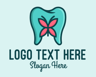 Oral Health - Dental Aesthetics Butterfly logo design