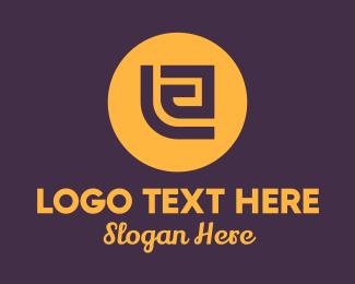 Meander - Golden Elegant Letter E logo design