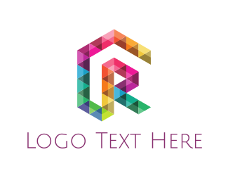 Multicolor - Colorful Triangle Letter R logo design