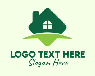 House And Lot - Green Real Estate Property logo design