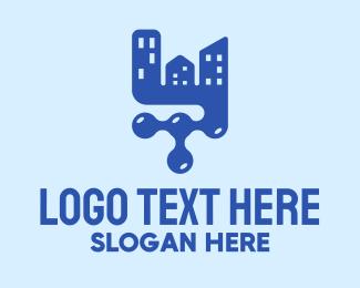 Blueprint - Modern Housing Company logo design