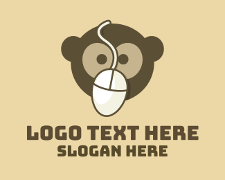 Inuit - Monkey Mouse logo design