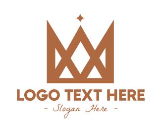 Leadership - Geometric Gold Crown logo design
