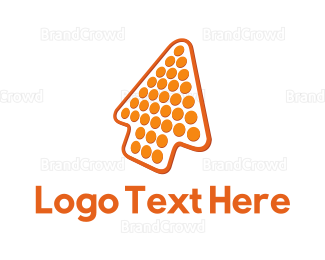 Vertical - Orange Arrow logo design