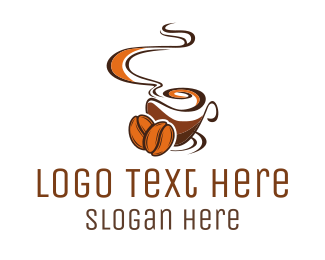Coffee - Brown Coffee logo design