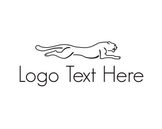 Big Cat - Running Big Cat logo design