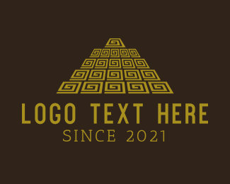 Culture - Mayan Pyramid logo design