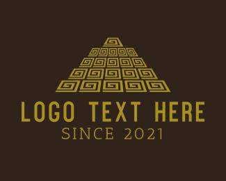 History - Mayan Pyramid logo design