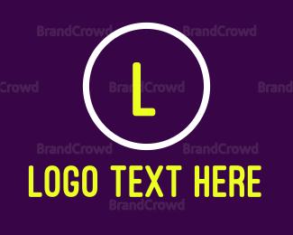 Led - Round Neon Signage logo design