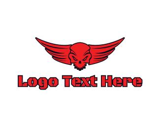 Corps - Red Devil Skull logo design
