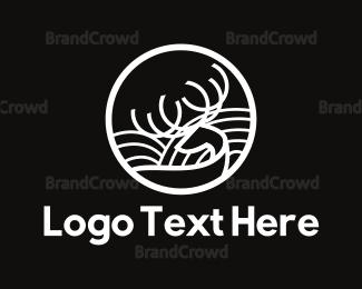 Alaska - Deer Landscape logo design